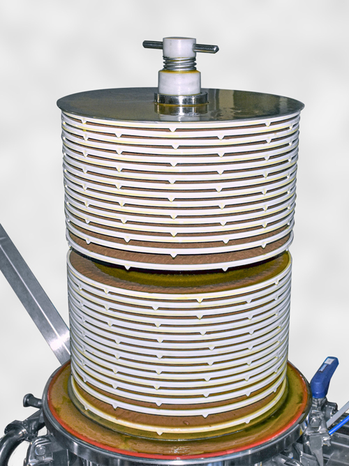 Dettaglio modulo lenticolare housing di filtrazione a moduli permeabilità differenziata Filtro Evo