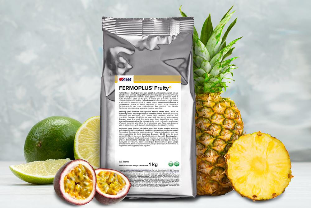 Nutriment bière Fermoplus Fruity notes fruitées, fruits tropicaux, ananas, lime