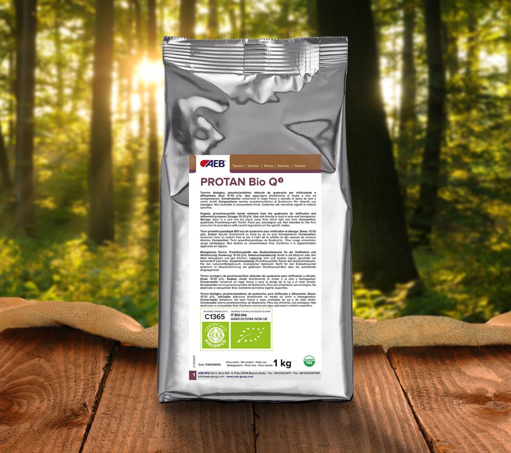 Protan Bio Q tanino certificado ecológico de madera de quebracho producción de vino bodega ecológica